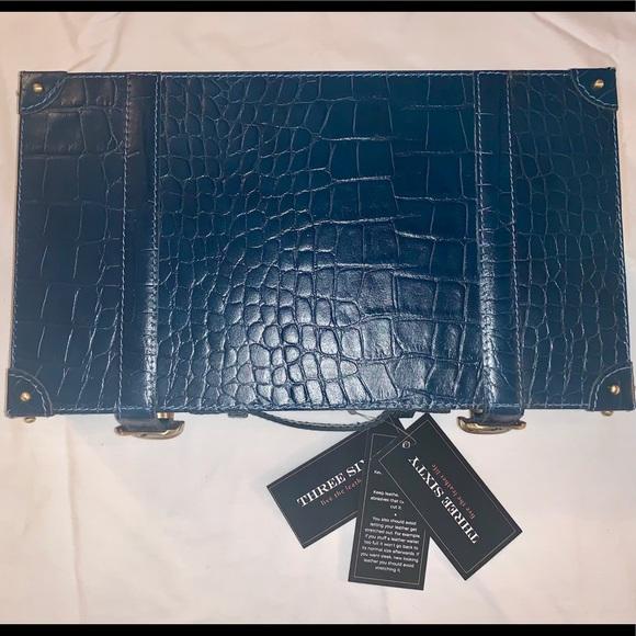 Three Sixty Jewelry - Three Sixty leather vanity box. Utility blue
